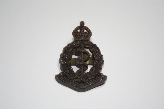 Royal Army Medical Corps WW2 Economy Plastic Cap Badge