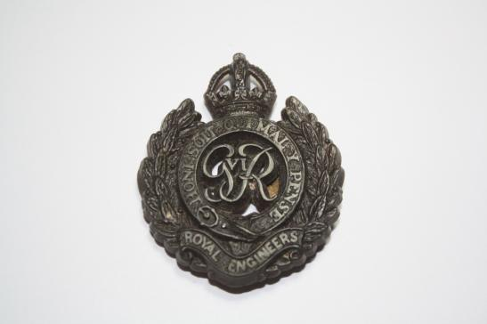 Royal Engineers WW2 Economy Plastic Cap Badge