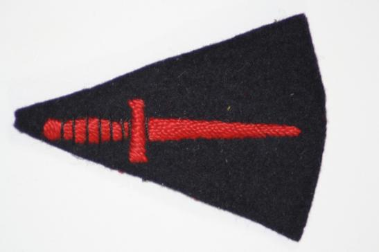 WW2 Commando Dagger Embroidered Cloth Arm Badge