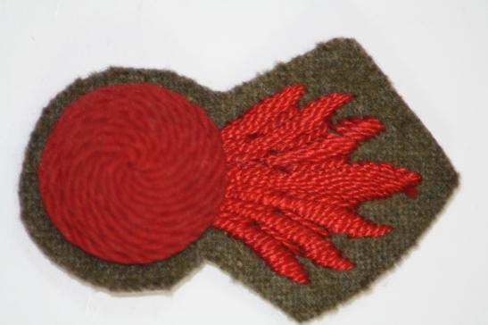 Royal Marines Siege Regiment Embroidered Cloth Arm Badge WW2