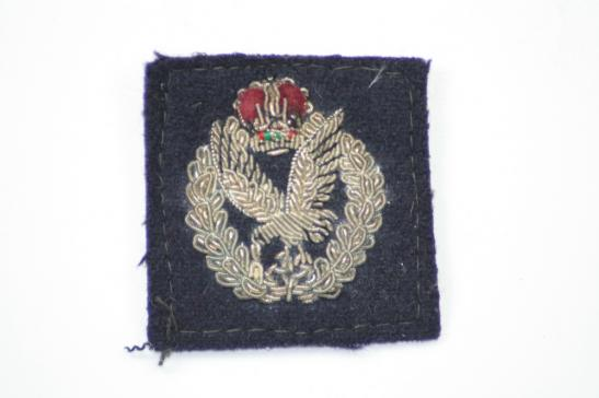 Army Air Corps Officers Bullion Cap Badge