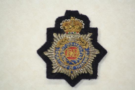 Royal Corps Transport Officers Bullion Cap Badge
