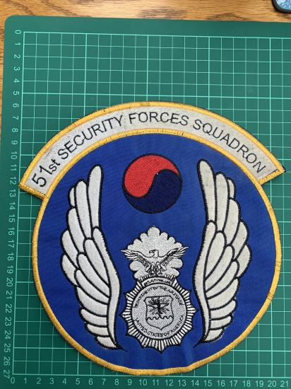 51st Security Forces Squadron Large Jacket Back patch
